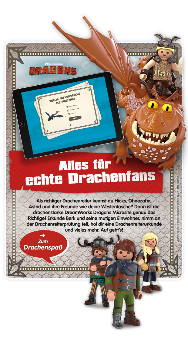 PLAYMOBIL® DreamWorks Dragons2 - Microsite